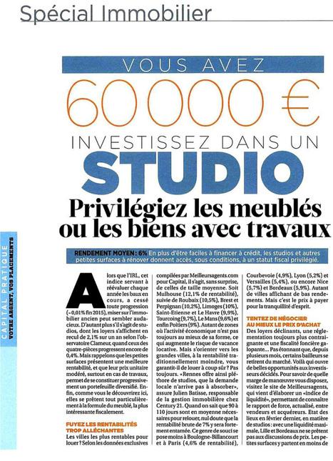 Investir en meublé (LMNP) - Presse Capital | Actu investissement immobilier | Scoop.it