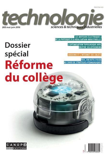 Revue technologie n°203 - sommaire - éduscol STI | La technologie au collège | Scoop.it