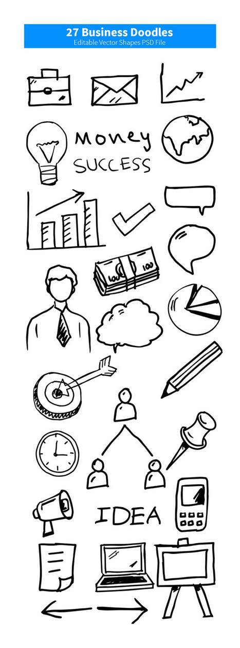 27 Business Doodles | Webdesign & Graphics | Scoop.it