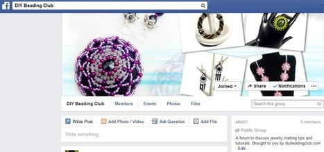 DIY Beading Club Facebook Group | Fashion, Jewelry and DIYs | Scoop.it