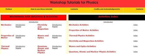 Workshop Tutorials for Physics | PhysicsLearn | Scoop.it