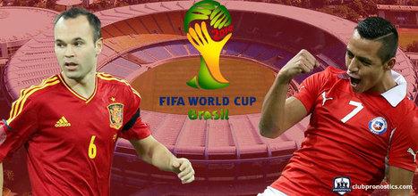 Pronostics Espagne - Chili : Groupe B - Coupe du Monde 2014 | Paris sportifs et pronostics | Scoop.it