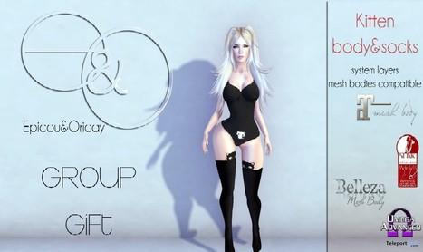 Kitten Bodysuit & Socks Group Gift by Epicou & Oricay | Teleport Hub - Second Life Freebies | Second Life Freebies | Scoop.it