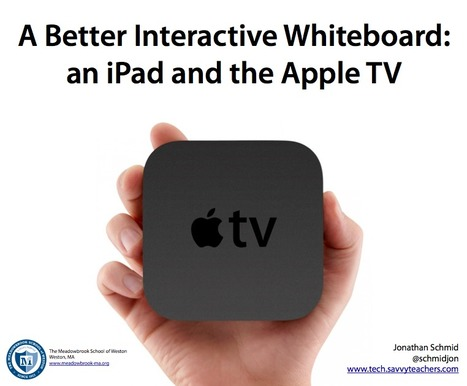 A Better Interactive Whiteboard: an iPad and the Apple TV | Tech Savvy Teachers | Common Core & You | Scoop.it