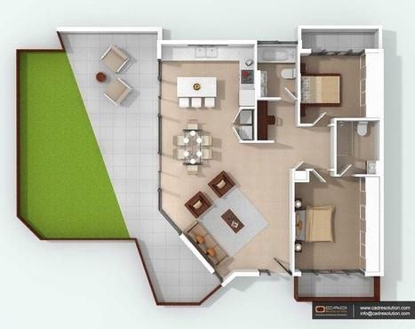 How 3D Floor Plan Design useful to get higher value of Property? | CAD Resolution | Scoop.it