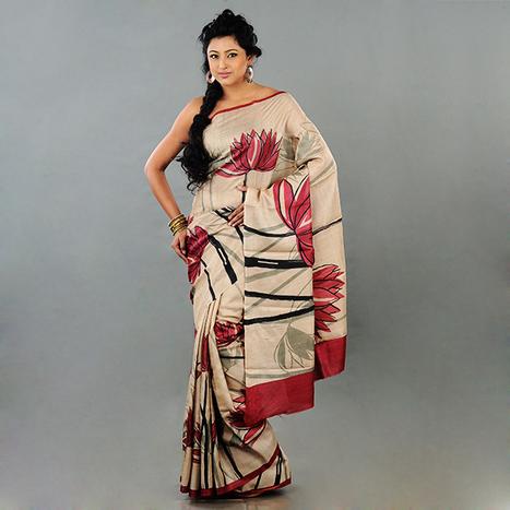 Sorella Boutique – TASSAR WITH ACID PRINT SAREE | Sorella Boutique – Online Sarees Shopping India | Scoop.it