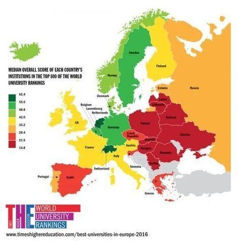 Classement des universités européennes : où est la France ? | Pédagogie, Education, Formation | Scoop.it