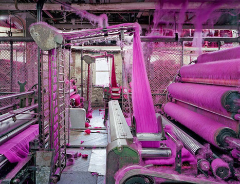 These Large Format Photos Show the Colorful World of Textile Mills | xposing world of Photography & Design | Scoop.it