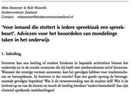 Stotteren.nl - Basisonderwijs | Stotteren | Scoop.it