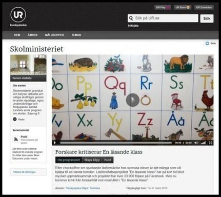 Lyssna på P1 Skolministeriet från igår tisdag! | Läs- och språksatsningen | Skolbiblioteket och lärande | Scoop.it