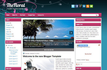 TheFloral | Blogger themes | Scoop.it