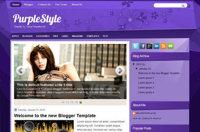 Purple Style Blogger Template | Way 2 Blogger Templates | Blogger themes | Scoop.it