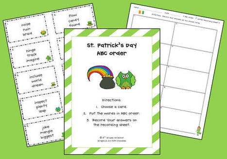 St. Patty's Day - ABC Order | Seasonal Freebies for Teachers | Scoop.it