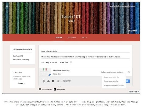 Google Classroom now available to all Apps for Education users, adds collaboration features | Dorai on Teaching and Learning | Scoop.it