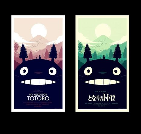 "Releases: Olly Moss x Studio Ghibli x Mondo: ""My Neighbor Totoro"" Screenprints 
