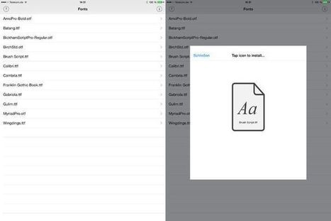 Install Any Font On Your iOS Device With A Regular App Store App | Cult of Mac | Great Gadgets and Sites | Scoop.it
