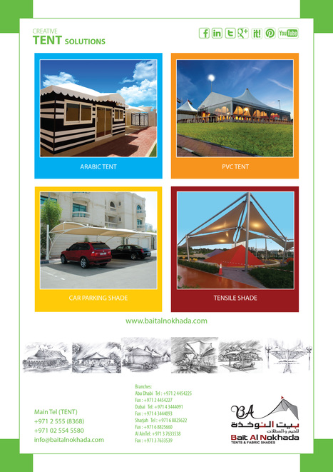 Aluminum tents, Car parking shades, Smart shades, Tensile fabric shades   Tents for Sale & Hire for Wedding, Ramadan, Exhibitions, Trade Shows, Corporate Events, Conferences, Sports Events, Concerts,etc   Scoop.it