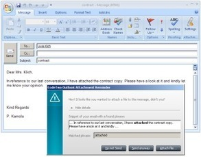 CodeTwo Outlook Attachment Reminder - never forget to attach another file again | Translator Tools | Scoop.it