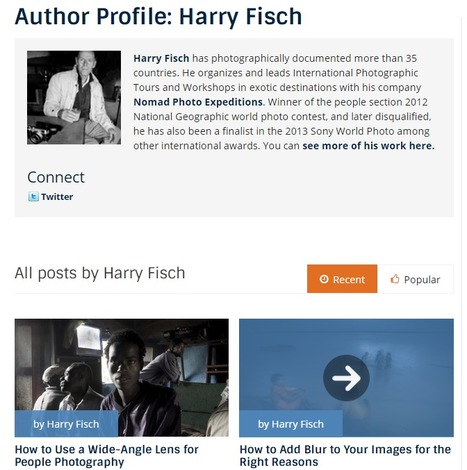 Harry Fisch, Author at Digital Photography School | Nomad Photo Expeditions | Scoop.it