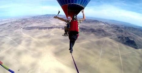 Record du monde de highline entre deux montgolfières | Aérostation, ballons et dirigeables | Scoop.it