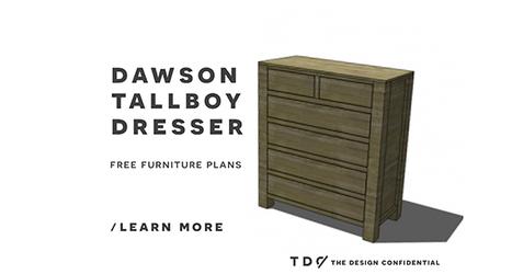 Free DIY Furniture Plans: How to Build a Dawson Tallboy Dresser ... | DIY | Scoop.it
