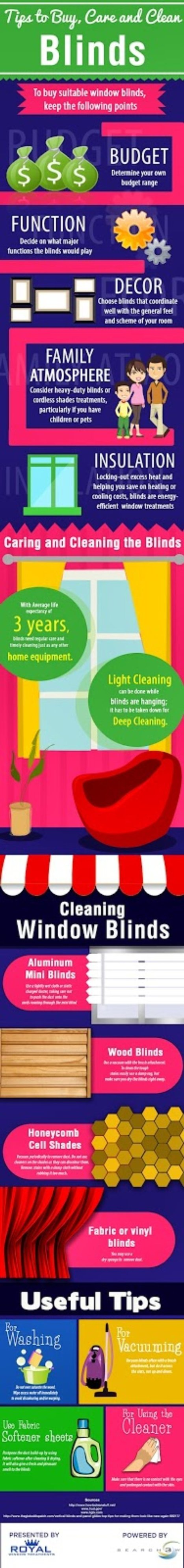 Tips to Buy, Care and Clean Blind | Royal Decorators | Scoop.it
