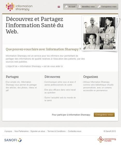 Information Shareapy : service en ligne pour les infirmièr(e)s | veille santé | Scoop.it