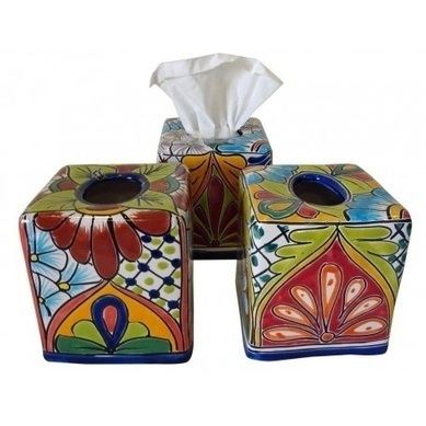 Square Tissue Box | Talavera Mexican Pottery | Scoop.it