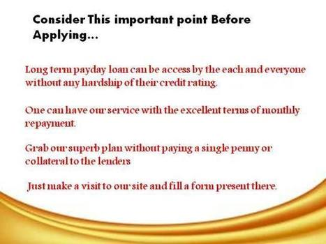 Long Term Payday Loans- Best Way Of Availing Spare Cash In Tough Periods | Installment Loans Alabama | Scoop.it