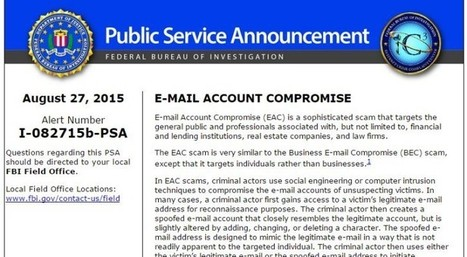 FBI warns that Business Email Scams are raising | SAFEWIRE.it secure file transfer | Scoop.it