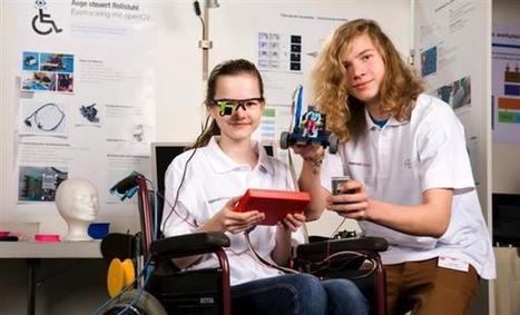 German teenagers create eye-movement controlled wheelchair with help of 3D printing ^ www.3ders.org | :: The 4th Era :: | Scoop.it