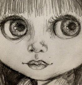 Pop Art Minis: An Inspired Sketch...Big Eyes, Blythe Fun!   Big Eye Art   Scoop.it