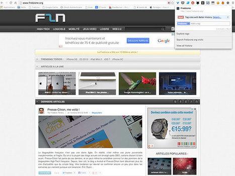 Chrome : un historique plus intelligent avec Better History   François MAGNAN  Formateur Consultant   Scoop.it