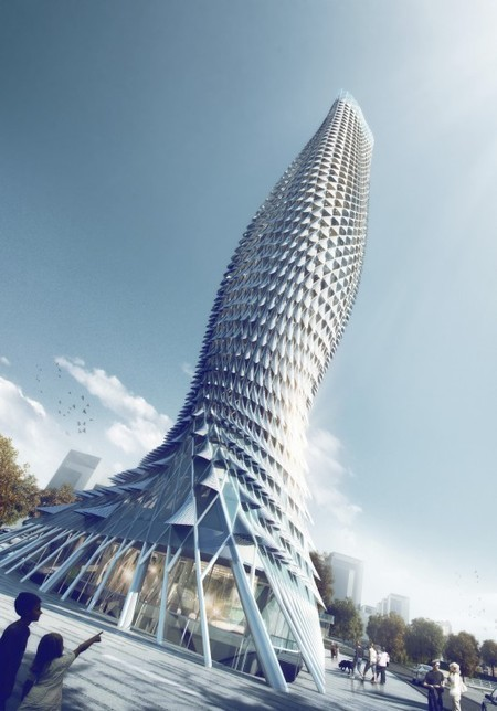 [Doumen - Guangdong, China] RMJM Designs Fish-Inspired Tower Clad with Aluminum Scales | The Architecture of the City | Scoop.it