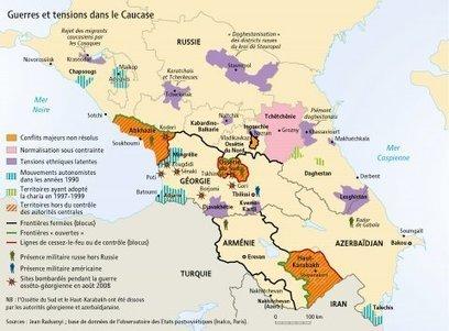 Carte :Conflits et tensions politiques dans le Caucase en 2009 (Visions Cartographiques) | Géographie des conflits | Scoop.it