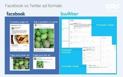 Facebook vs Twitter en publicité. Comparatif des performances.   web etc   Scoop.it