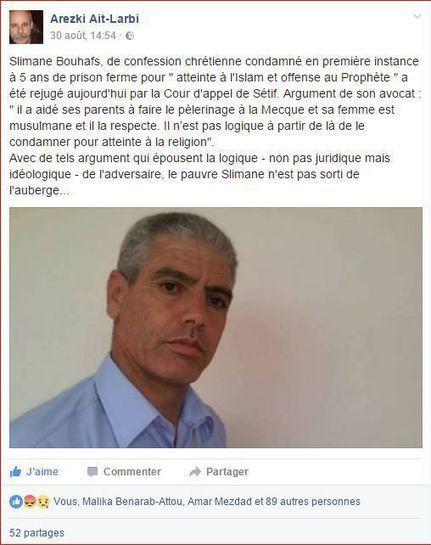 Algérie : un chrétien condamné à 5 ans de prison pour «outrage à l'islam» | Droit | Scoop.it