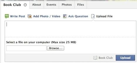 Ahora Facebook permite a los grupos compartir ficheros de hasta 25 MB | GeeksRoom | Searching & sharing | Scoop.it