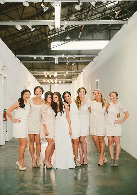 Creative industrial wedding: Casey + David | Real Weddings | 100 ... | real weddings | Scoop.it