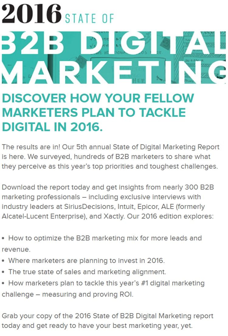 [FREE] 2016 State of B2B Digital Marketing Report | DemandWave | The Marketing Technology Alert | Scoop.it