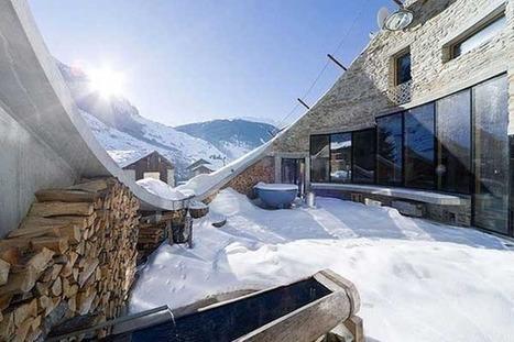 沿著阿爾卑斯山而建的現代洞穴Villa | 建築 | Scoop.it
