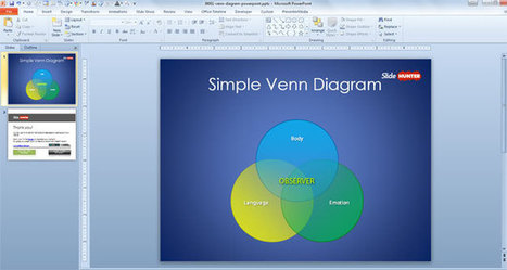 Free Simple Venn Diagram Template for PowerPoint | Free PowerPoint Templates 1 | Scoop.it