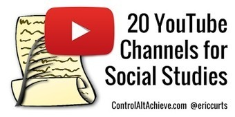 20 YouTube Channels for Social Studies | Bibliotecas Escolares & boas companhias... | Scoop.it