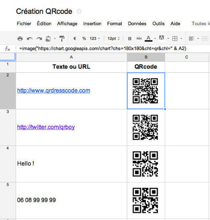 Astuce : Créer vos QRcodes en série | QR-Code and its applications | Scoop.it