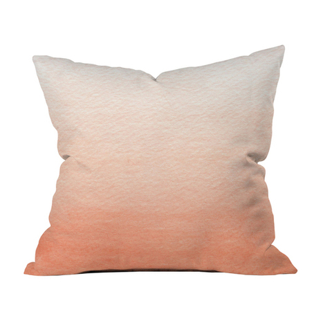 Peach Ombre Throw Pillow | darch | Scoop.it