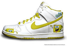 Spongebob Nikes White Nike Dunk Cartoon Spongebob nikes / spongebob nike dunk | Spongebob Nike Dunks | Scoop.it