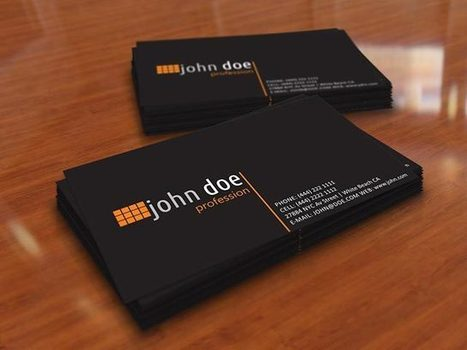 Simple Black Personal Business Card Template | Business Cards | Scoop.it
