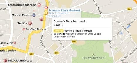 Google : nouvel affichage pour les annonces Adwords sur Google Maps - | Cartographie XY | Scoop.it