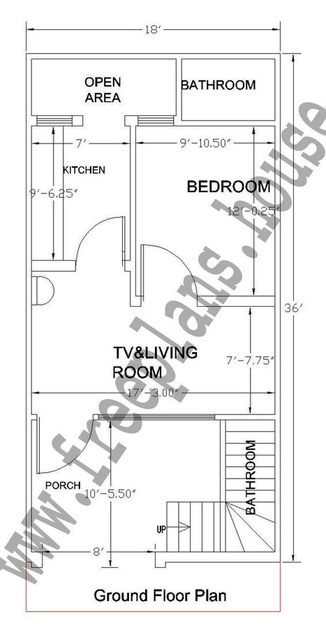 18 36 Feet 60 Square Meter House Plan Free House Plans