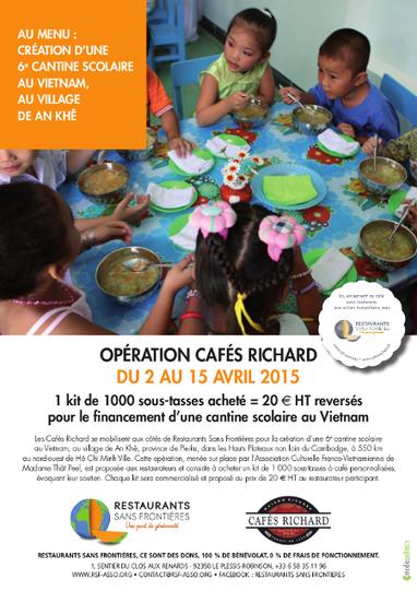 Nouvelle cantine scolaire au Vietnam avec Cafés Richard – Avril 2015 | Restaurants Sans Frontières | Marketing Service Restauration Commerce | Scoop.it